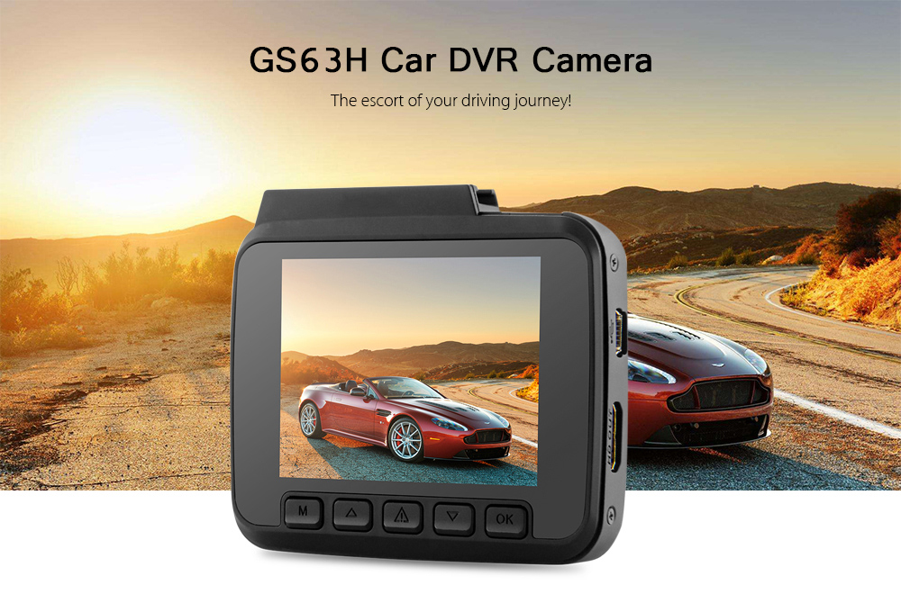 GS63H 2.4 inch LCD 4K FHD Car Digital Video Recorder with 150 Degree Wide Angle