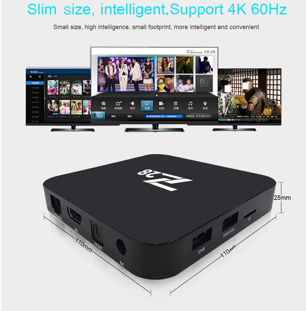 Z28 TV Box RK3328 4 Core Android 7.1 2GB + 16GB