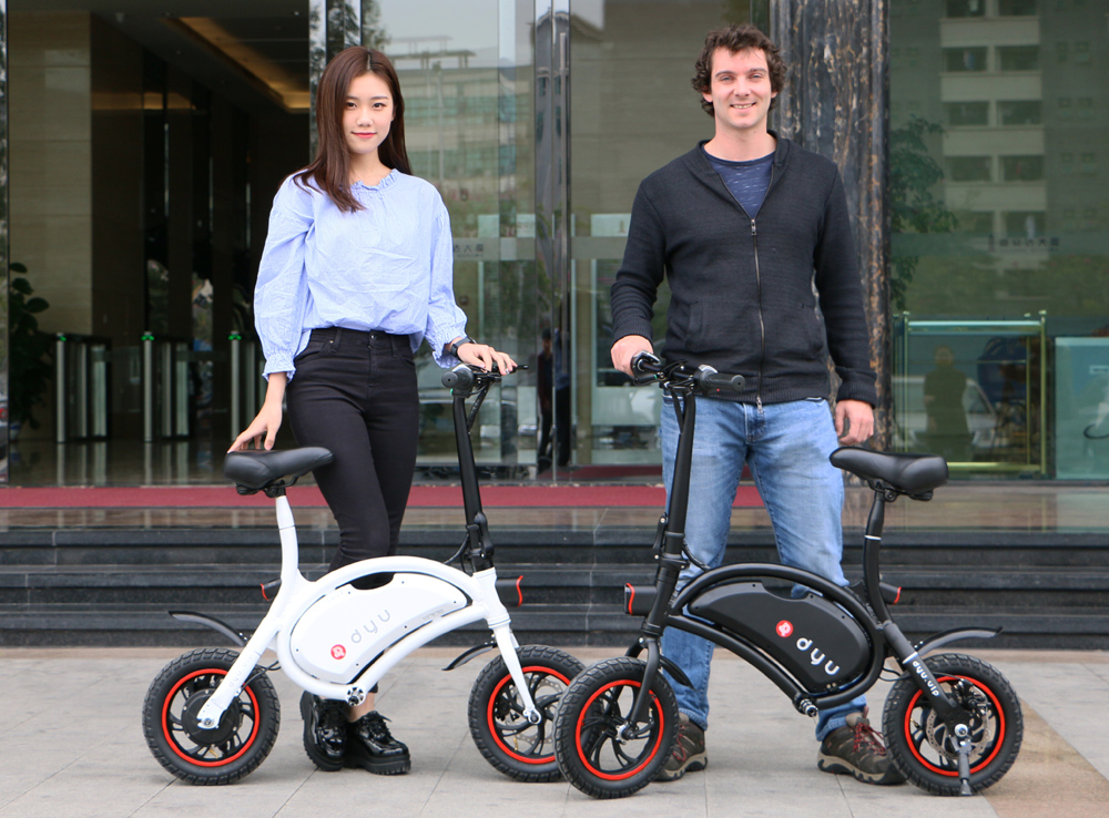 F - wheel DYU 12 inch Wheels Smart Folding Electric Bike