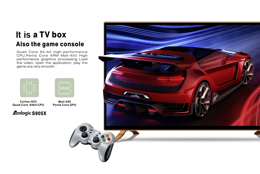 TAP 1 Android 6.0 TV Box 2GHz Cortex-A53 CPU Bluetooth 4.0 Media Player
