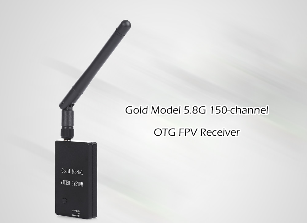 Gold Model 5.8G 150CH OTG FPV Receiver Engine with Signal Strength OSD for Smartphone Tablet