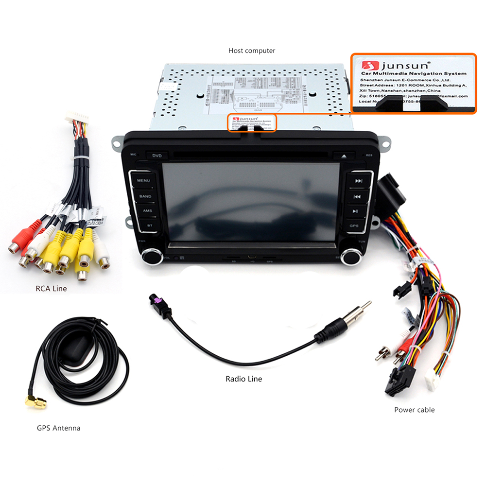 Junsun DVD - 7.0 - CE 7.0 inch 2 Din In-dash Car DVD MP3 Player Touch Screen / Bluetooth V2.0 / Radio FM AM / GPS / SWC / Received Dialed Call