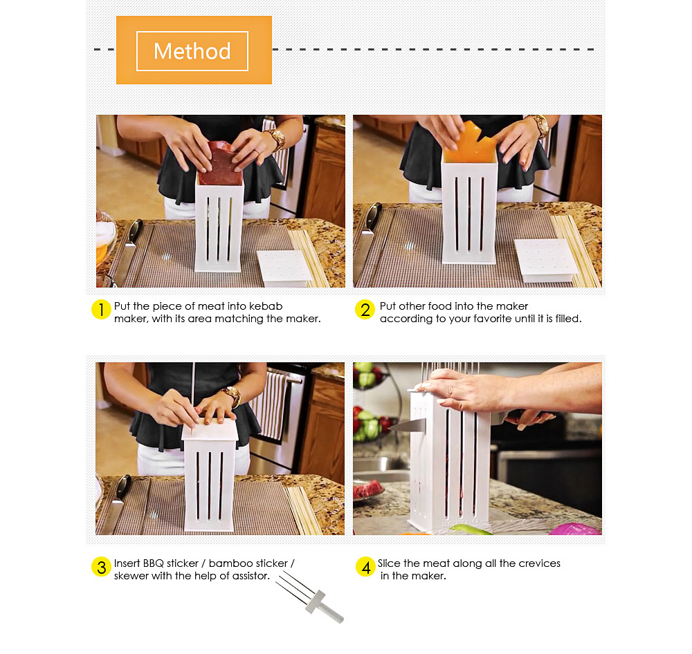 Creative 36 Holes Kebab Maker Box Baking Tool