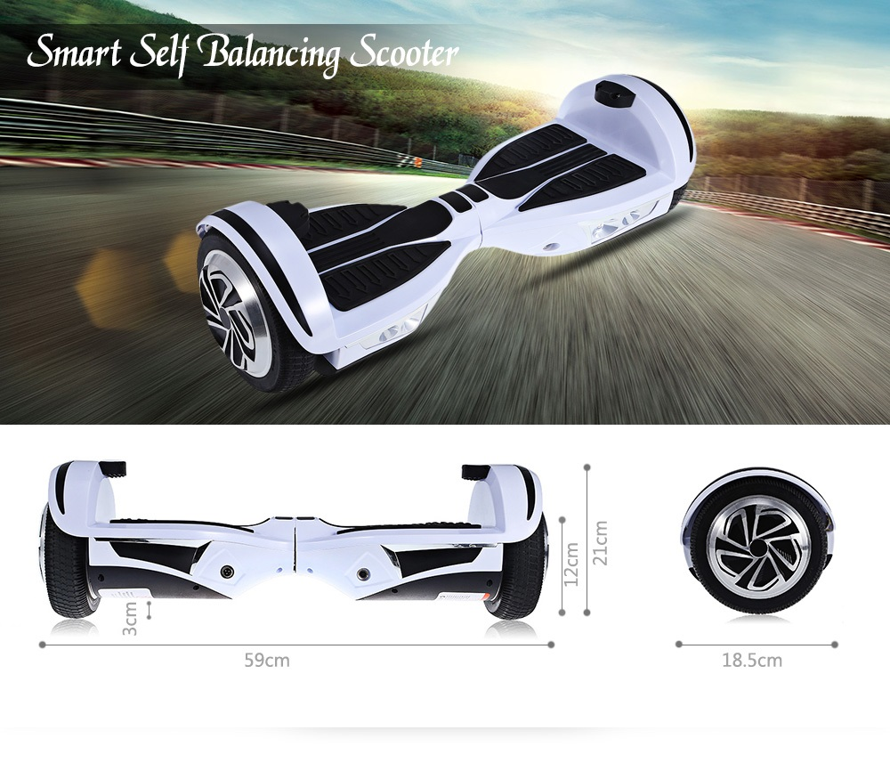 Smartmey N5 - UL2272 7.5 inch 2 Wheels Smart Self Balancing Scooter with Bluetooth Music Function