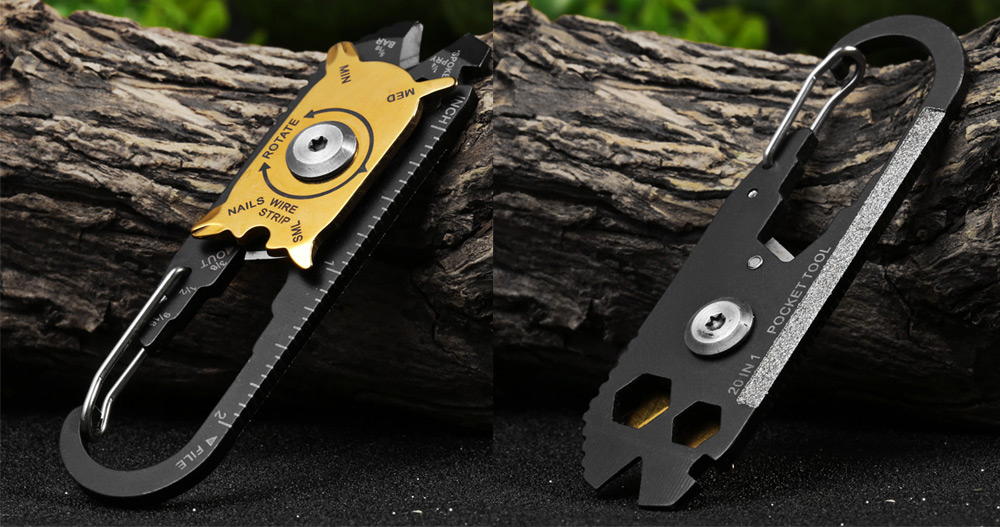 EDCGEAR 20 in 1 Multi-functional Hanging Buckle Screwdriver for Outdoor Survival