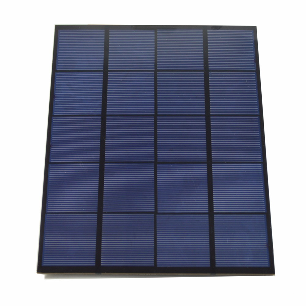 5W 5V USB Output Monocrystalline Silicon Solar Panel Charger 165 x 210mm
