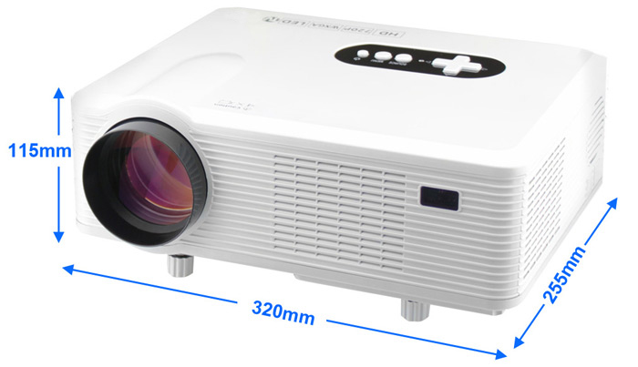 Excelvan CL720 LED Projector 3000 Lumens 1280 x 800 Pixels with Analog TV Interface for Home Entertainment