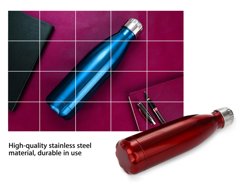 Creative 500ml Stainless Steel Vacuum Cup Insulated Water Bottle