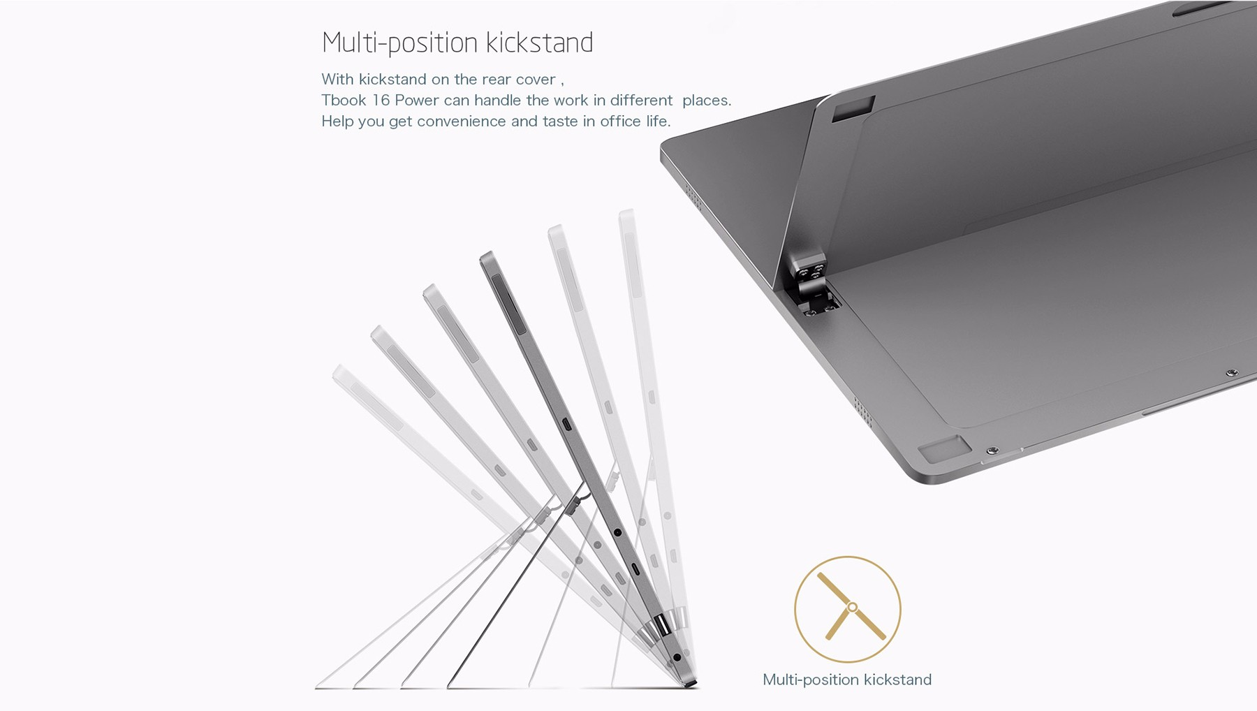 Teclast Tbook 16 Power Tablet PC Windows 10 + Android 6.0 11.6 inch IPS Screen Intel Atom x7-Z8750 64bit Quad Core 1.6GHz 8GB RAM 64GB ROM Cameras OTG