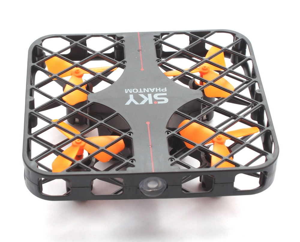 HAPPYCOW 777 - 382 SKY PHANTOM Fully Protected Mini RC Quadcopter RTF 2.4GHz 4CH 6-axis Gyro 3D Roll Speed Switch LED Light