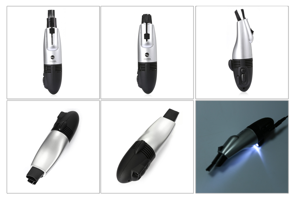 USB Automatic Vacuum Computer Cleaning Tool with Hidden Brush