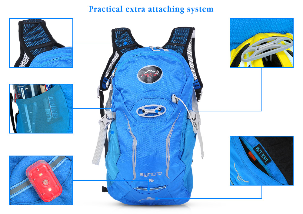 LOCAL LION 527 Ultra-light Nylon Mesh Cycling Backpack 15L Mountaineering Bag