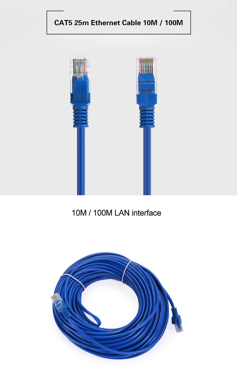 cat5 25m ethernet cable 10m 100m networking accessory online shopping. Black Bedroom Furniture Sets. Home Design Ideas