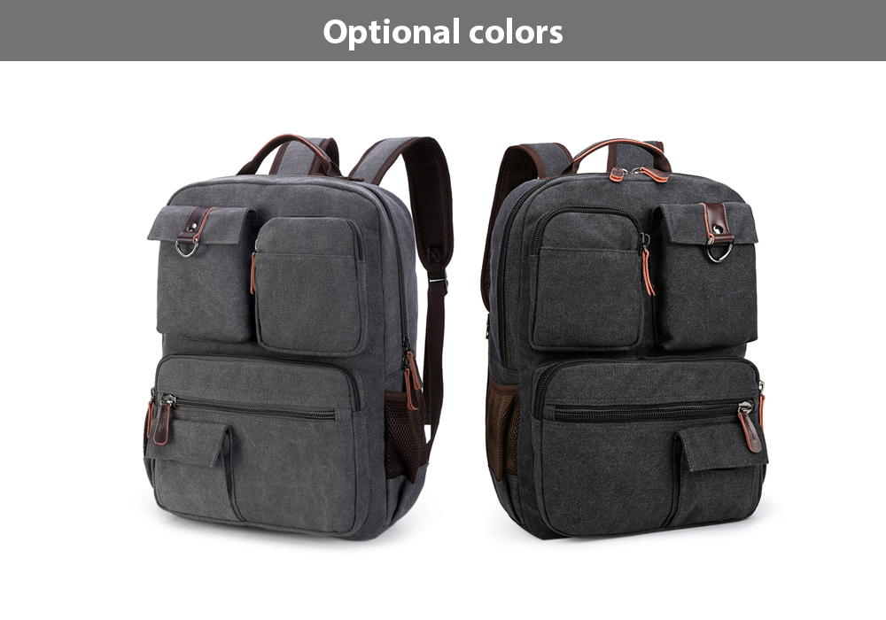 Kabden 8617 Wear-resistant Canvas 15L Leisure Backpack 15.6 inch Laptop Bag