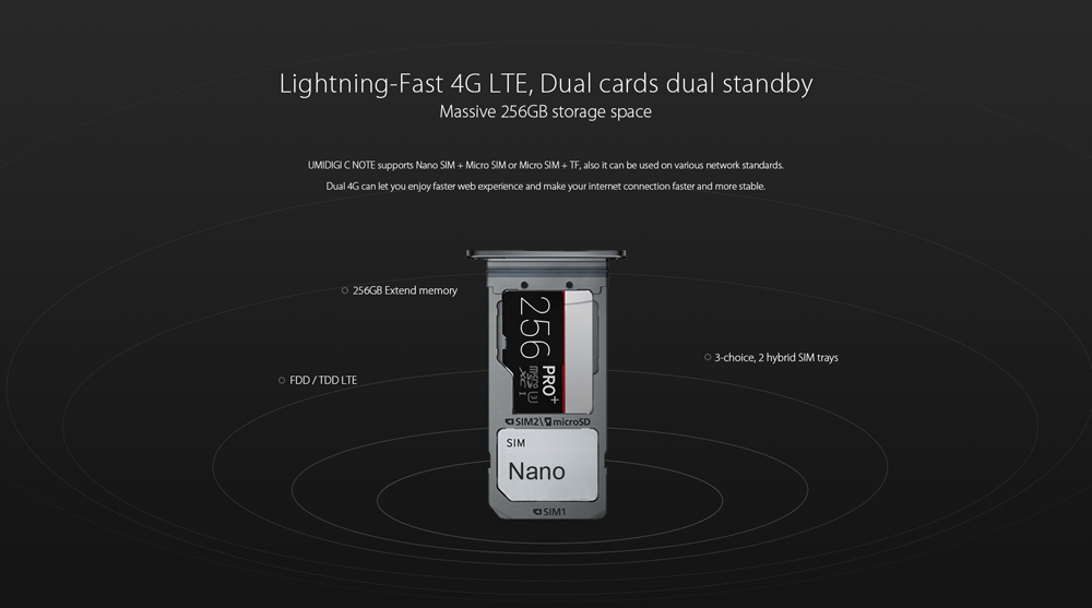 UMIDIGI C NOTE 4G Phablet 5.5 inch Android 7.0 MTK6737T Quad Core 1.5GHz 3GB RAM 32GB ROM Fast Touch ID Full Metal Body 13.0MP Rear Camera