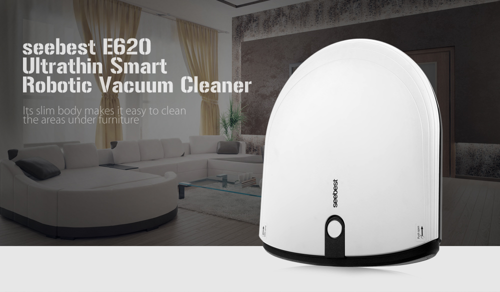 seebest E620 Ultrathin Smart Robotic Vacuum Cleaner Cordless Sweeping Cleaning Machine