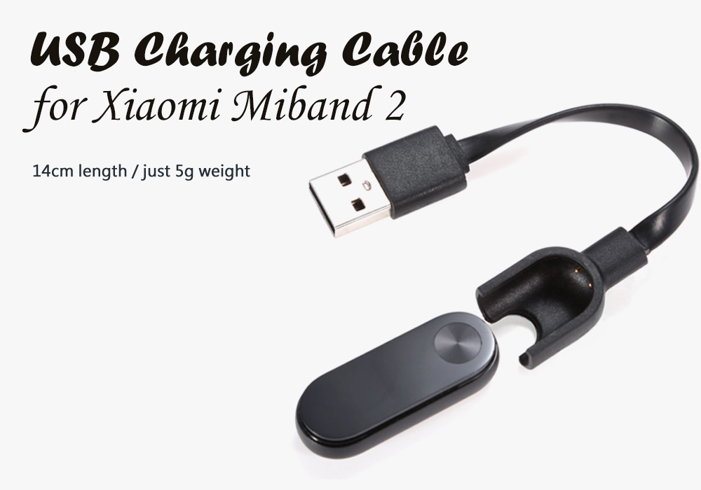 Charging Cable with 14cm Length for Xiaomi Miband 2