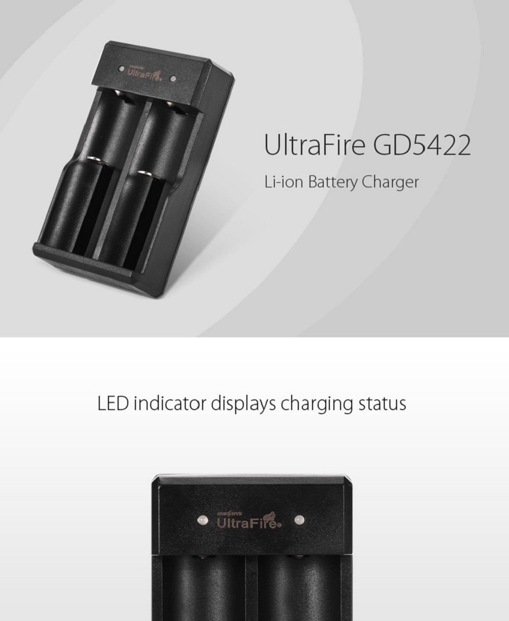 UltraFire GD5422 Li-ion Battery Charger for 18650 10440 14500 16340 Batteries