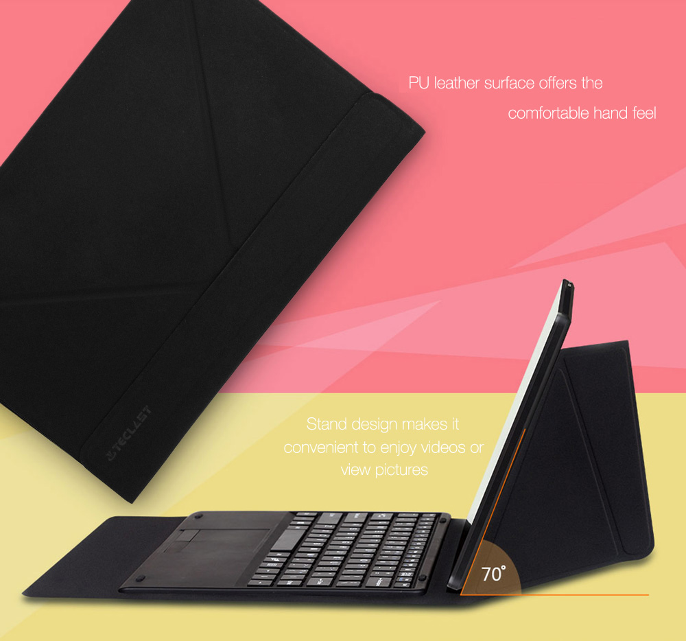 Original Teclast TBook 11 / X16 Plus Keyboard Case Magnetic Docking PU Leather