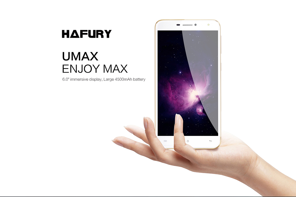 HAFURY UMAX 6.0 inch 3G Phablet Android 7.0 MTK6580 Quad Core 1.3GHz 2GB RAM 16GB ROM 4500mAh Battery OTG 13.0MP Rear Camera