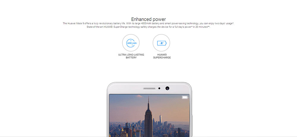 HUAWEI Mate 9 4G Phablet Android 7.0 5.9 inch Kirin 960 Octa Core 2.4GHz 4GB RAM 64GB ROM 12.0MP + 20.0MP Dual Rear Cameras Global Version