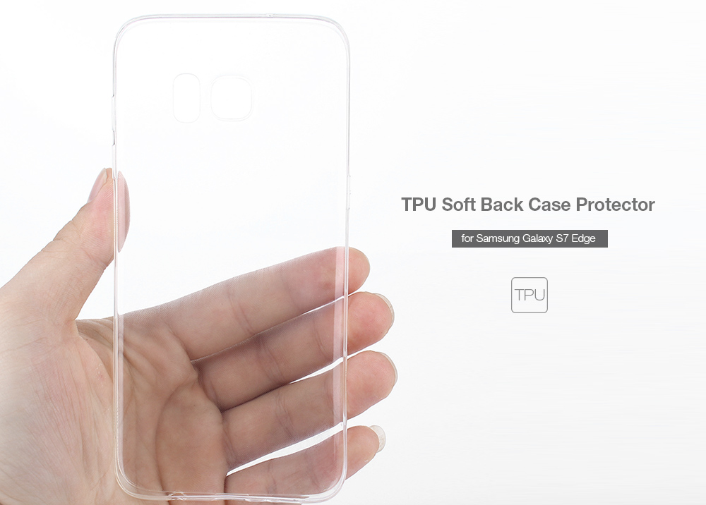 ASLING Protective Back Case for Samsung Galaxy S7 Edge Ultra-thin TPU Material