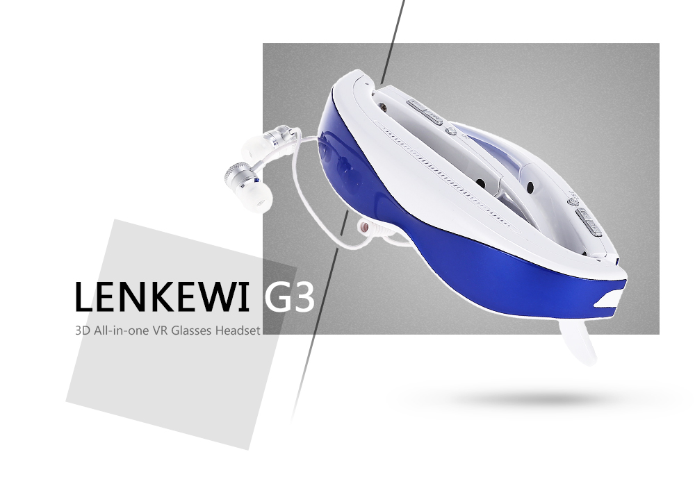 LENKEWI G100 All-in-one 1080P FHD VR Glasses Headset Support 2D / 3D Video