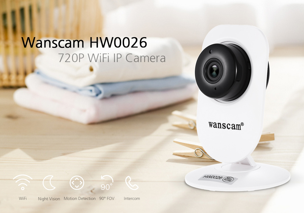 Wanscam HW0026 720P WiFi IP Camera with Night Vision / P2P Function