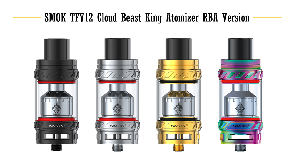 Original SMOK TFV12 Cloud Beast King Atomizer RBA Version with Top Filling / 6ml for E Cigarette