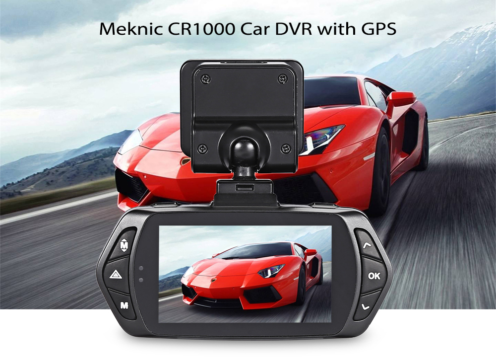 Meknic CR1000 FHD 1296P Car Digital Video Recorder with GPS Navigation