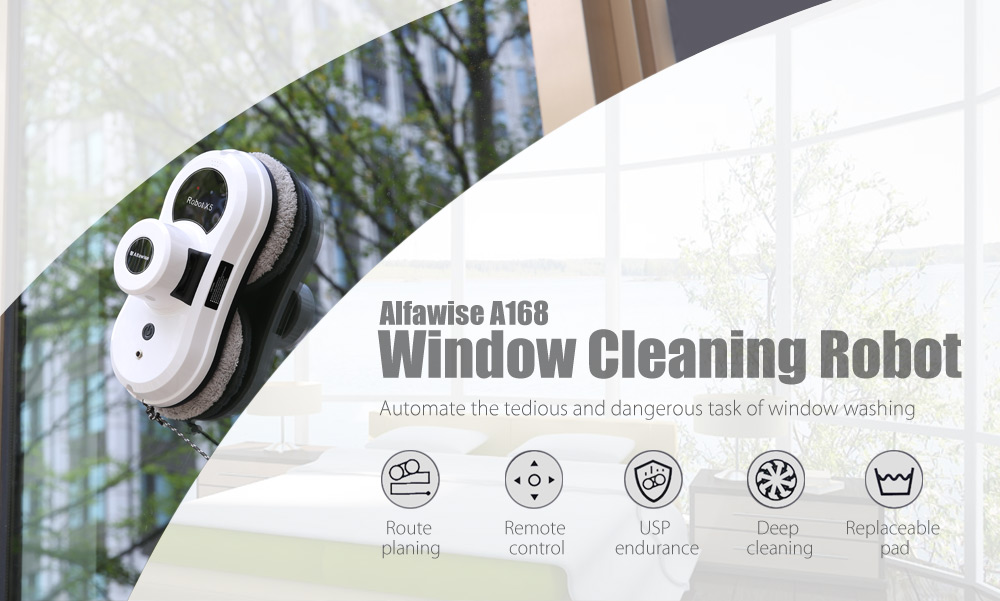 Alfawise A168 Robotic Window Cleaner Automatic Glass Cleaning Robot