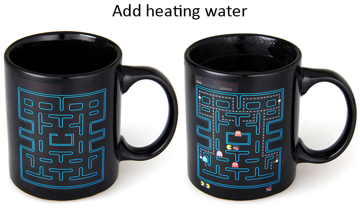 Magical Color Changing Temperature Control Mug Labyrinth Pattern Coffee Cup