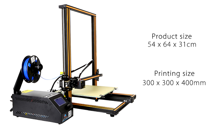 CR - 10 3D Large Size Desktop DIY Printer LCD Screen Display with SD Card Off-line Printing Function