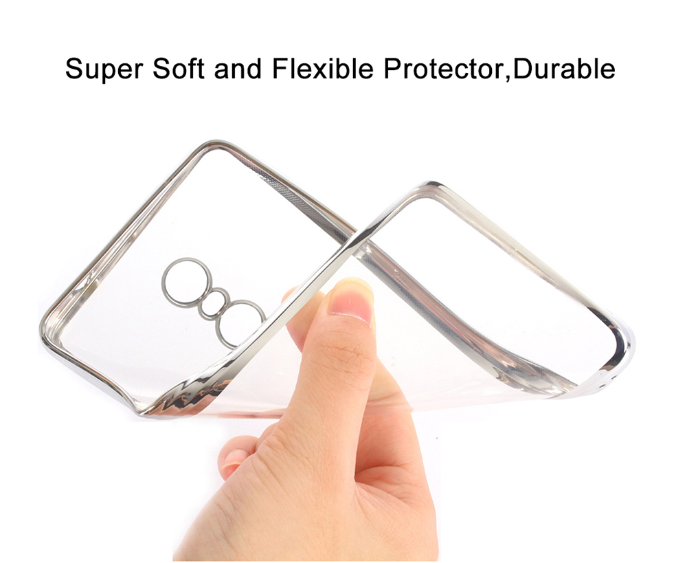 ASLING TPU Soft Protective Case for Xiaomi Redmi Note 4 Ultrathin Transparent Shell Electroplated Edge