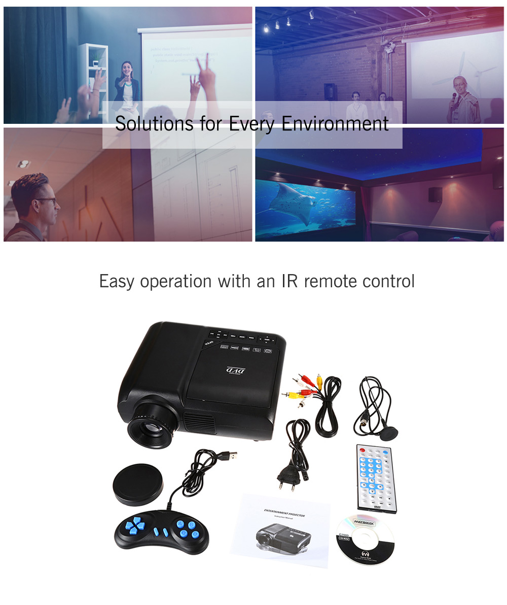 EPL007 Super Mini Multimedia Projector Entertainment DVD Home Theater 320 x 240 with Build-in Speaker