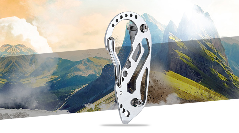 EDCGEAR Multi-function Tool Key Holder + Quick Release Carabiner 2pcs