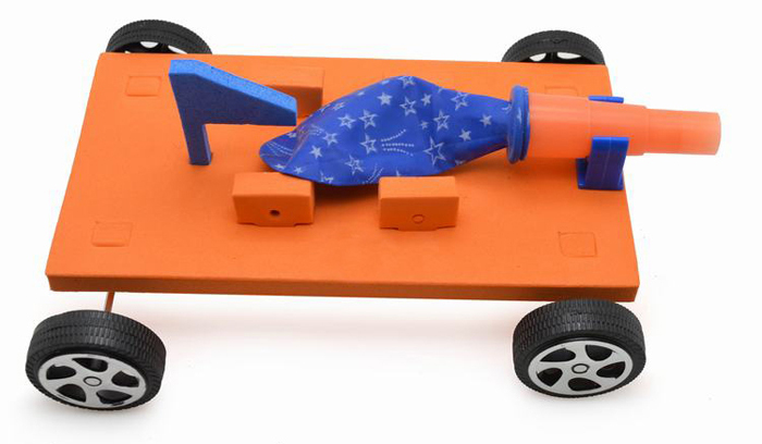 Balloon Race Car Air Power Assemble Model Toy for Student Child