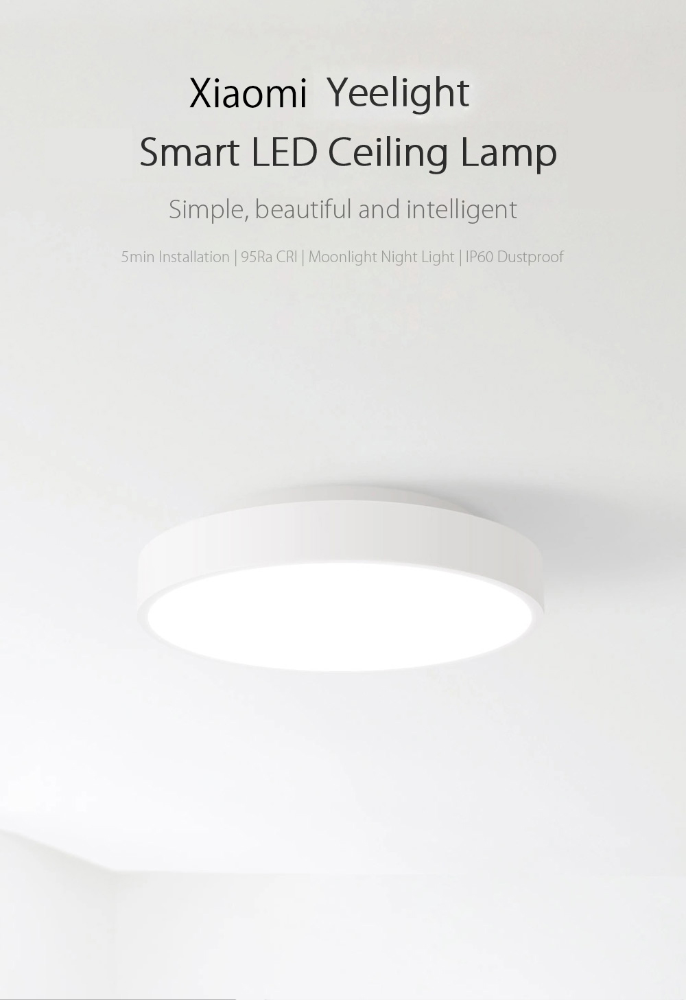 Xiaomi Yeelight Intelligent LED Ceiling Lamp Dust Resistance Wireless Dimming