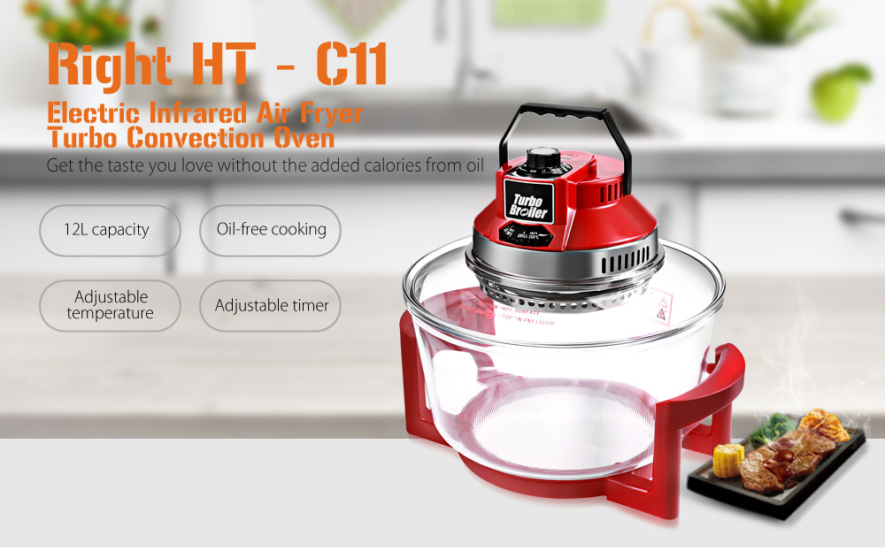 Right HT - C111200W 12L Oil-free Electric Infrared Turbo Convection Oven Air Fryer