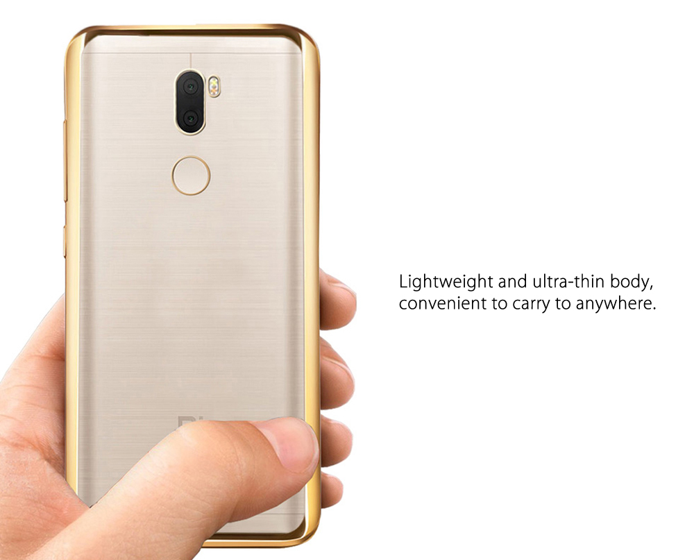 Luanke TPU Soft Protective Phone Case for Xiaomi 5S Plus Ultrathin Transparent Shell Electroplated Edge