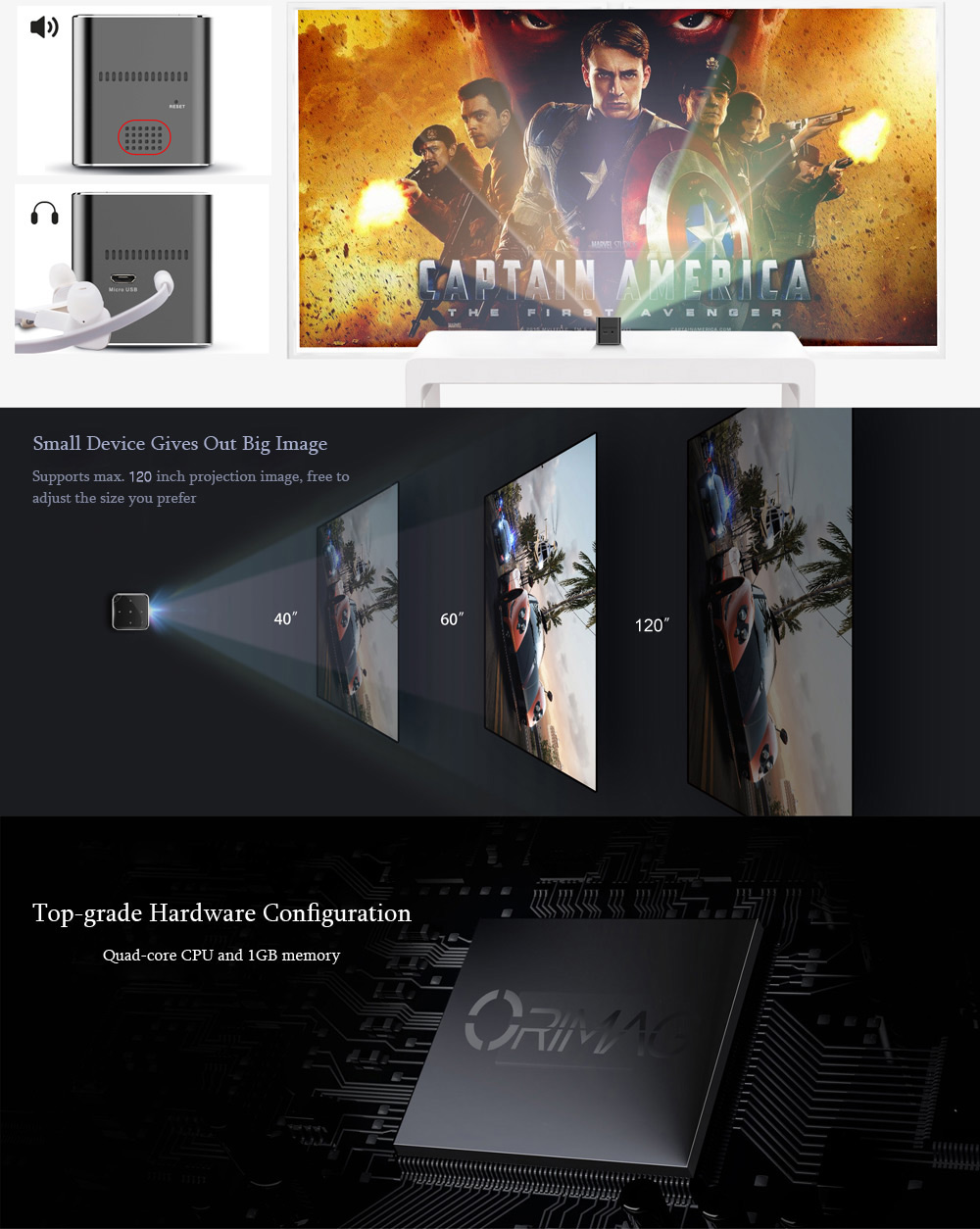 P6 Projector 1080P for Home Cinema