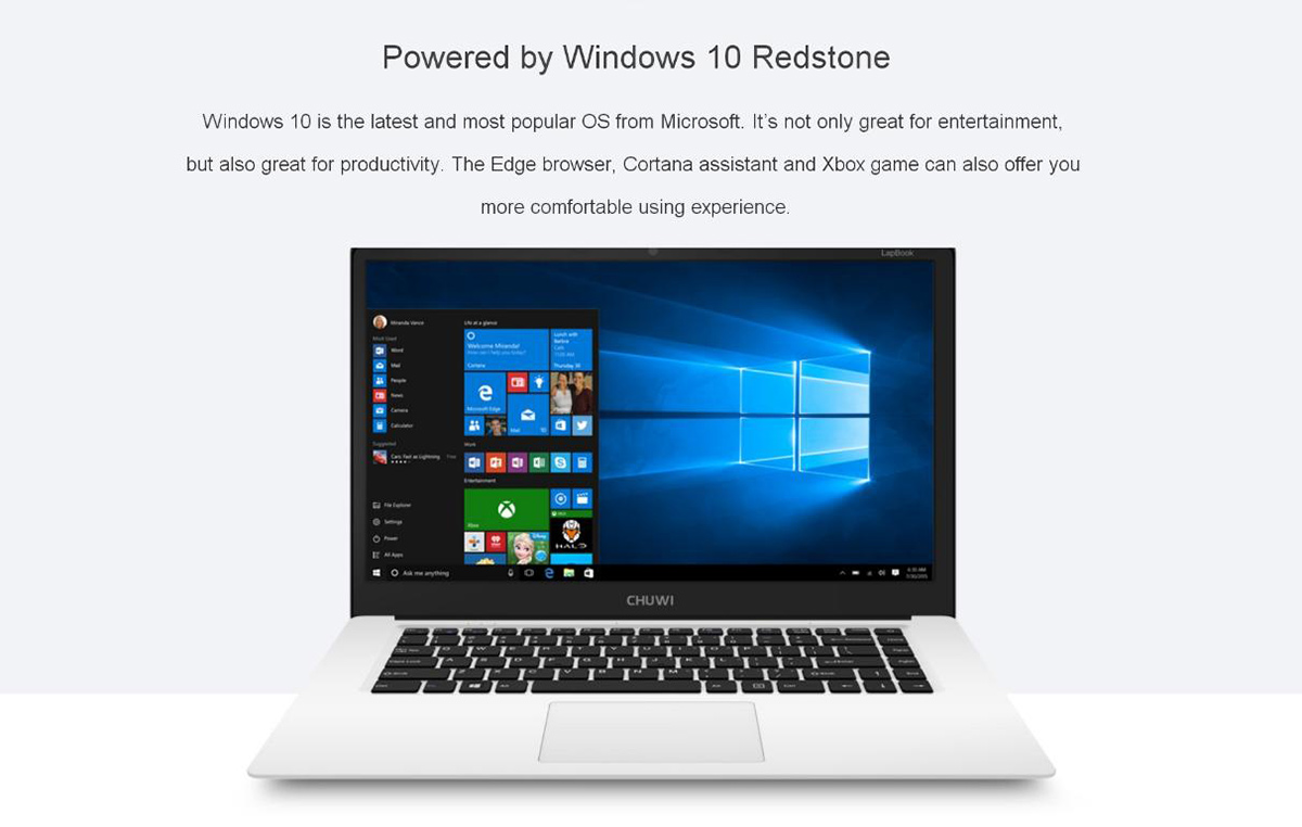CHUWI LapBook  Windows 10 Computadora/Ordenador Portátil