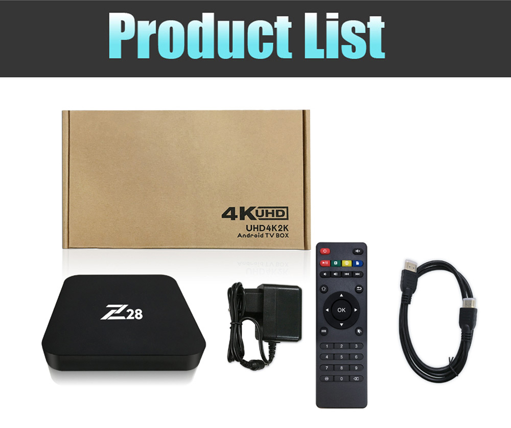 Z28 TV Box RK3328 4 Core Android 7.1 1GB + 8GB