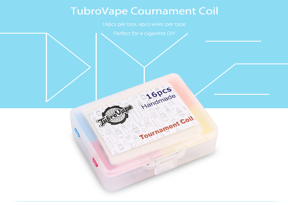 Original TubroVape Cournament Coil with 4 Types ( 16pcs/pack )