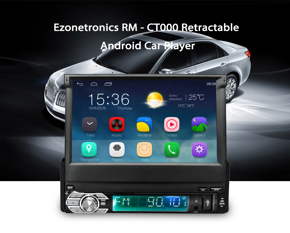 Ezonetronics RM - CT0008 7 inch 1 Din Retractable Screen Android 5.1 Car Player