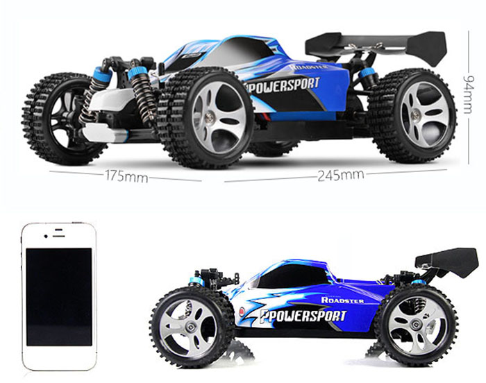 WLtoys A959 2.4G 1/18 Scale Remote Control OFF-road Racing Car High Speed Stunt SUV