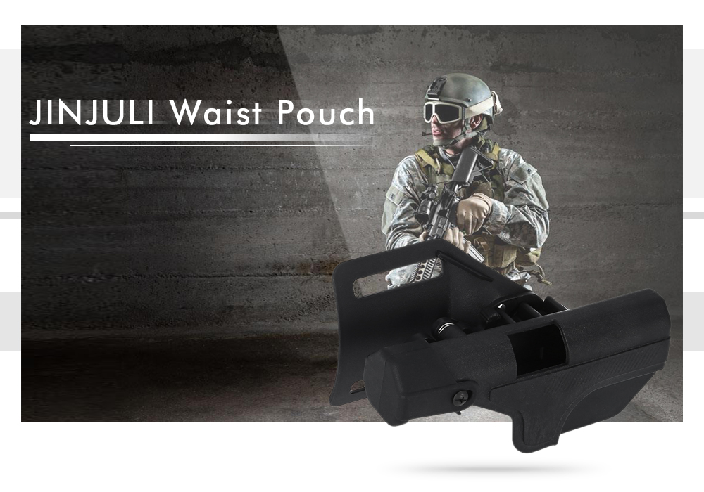 JINJULI Right Hand Tactical Waist Pouch with Quick-release Design