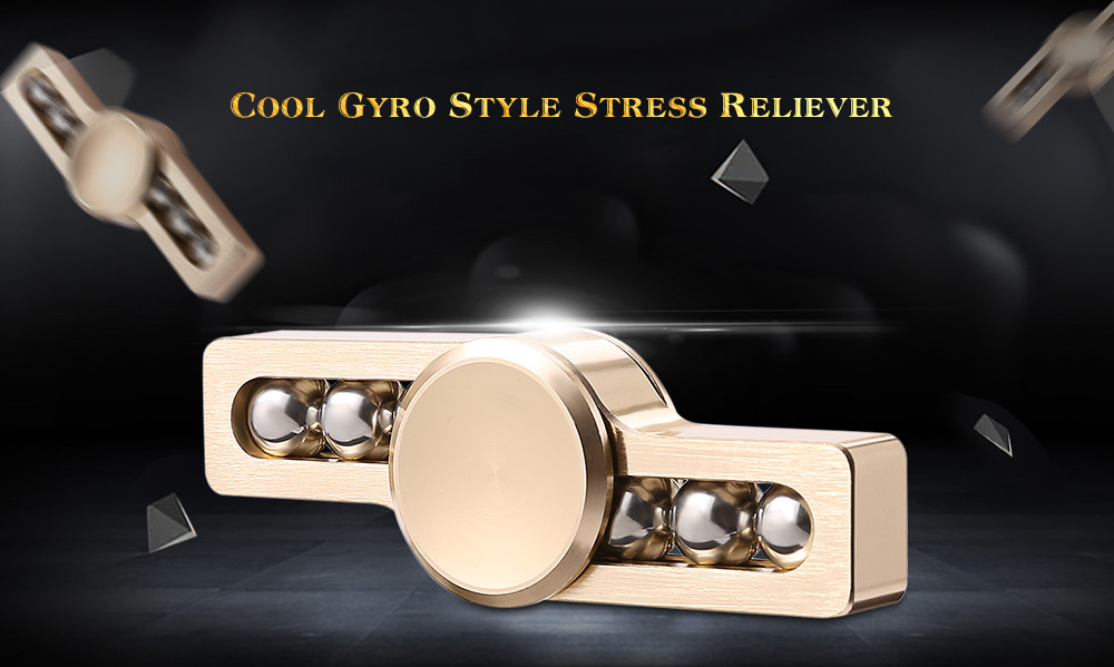 Gyro Stress Reliever Pressure Reducing Toy with Six Rotating Bead for Office Worker