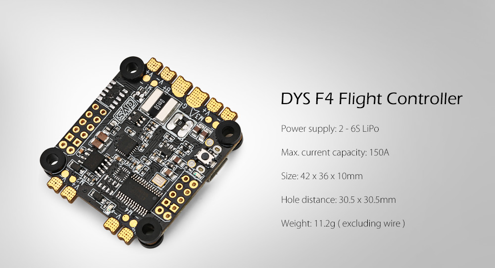 DYS F4 Flight Controller with Integrated OSD / Current Sensor / OMNIBUSF4 Firmware