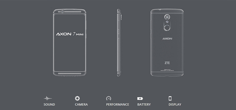 ZTE AXON 7 Mini Android 6.0 5.2 inch 4G Smartphone Snapdragon 617 Octa Core 1.5GHz 3GB RAM 32GB ROM 13.0MP Rear Camera Fingerprint Scanner